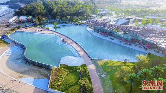 鸟瞰白塘湾国际旅游度假城。
