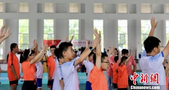2019年特殊奥林匹克融合夏令营于7月8日在厦门市特殊教育学校与厦门市城市职业技术学院正式启动。 陈静枭 摄