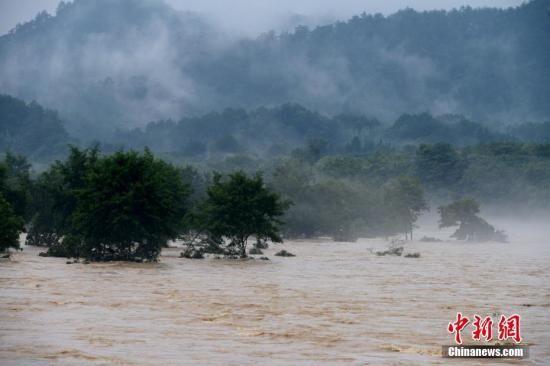 资料图:受连日来持续强降雨影响,福建武夷山河水暴涨。中新社记者 王东明 摄