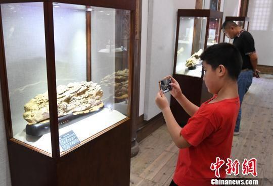 """""""青蓝门径·福建青年艺术家雕刻作品展""""正在福州福建省海峡民间艺术馆展出。记者刘可耕 摄"""