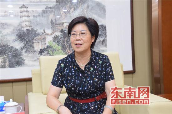福州市侨联主席蓝桂兰言。记者 陈佳丽 摄