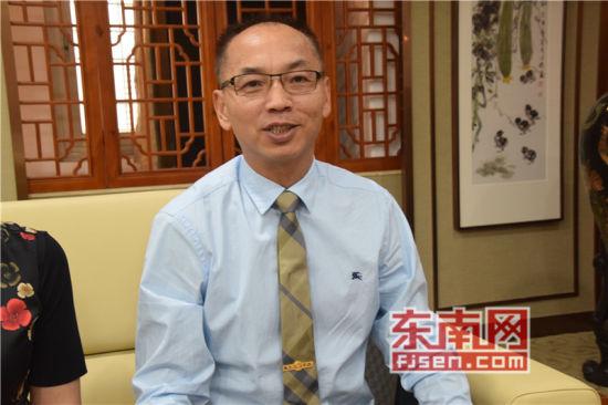 美国福建琯头联合总会主席郑正江言。记者 陈佳丽 摄