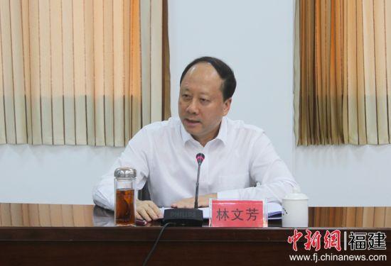 图为宁德市委副书记林文芳讲话。 林榕生 摄