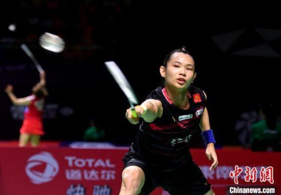 中国台北名将戴资颖在比赛中。 吕明 摄