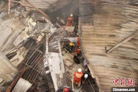 图为救援现场。 福州消防供稿 摄