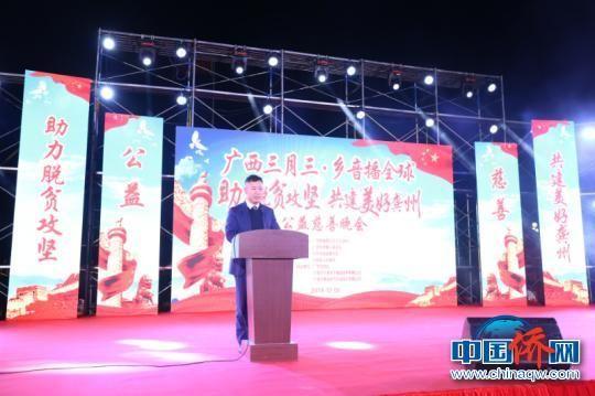 图为广西华侨爱心基金会理事长韦家伟致辞 林浩 摄