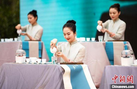 图为茶艺表演。 刘超超 摄