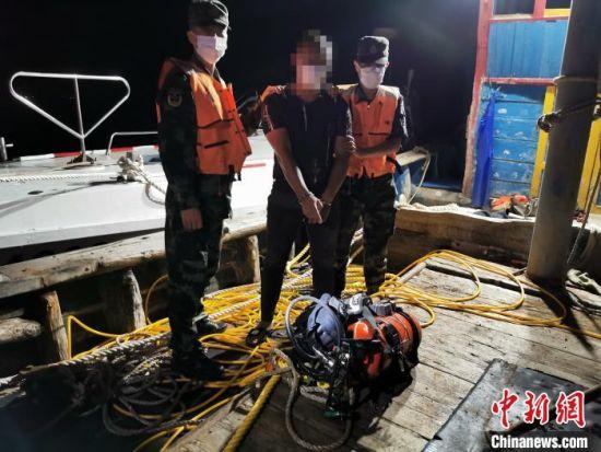 福州海警局查获首起海上盗窃案。 福州海警局供图