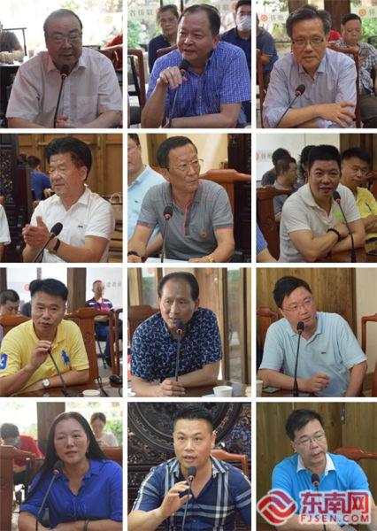 参会侨领以及福建基层侨联代表发言 东南网记者陈佳丽 摄