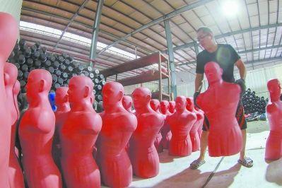 漳州泰里斯体育器材生产的仿真人体靶销往全球各地。