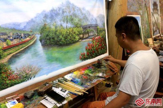 下党乡油画创作基地。东南网记者 林先昌 摄