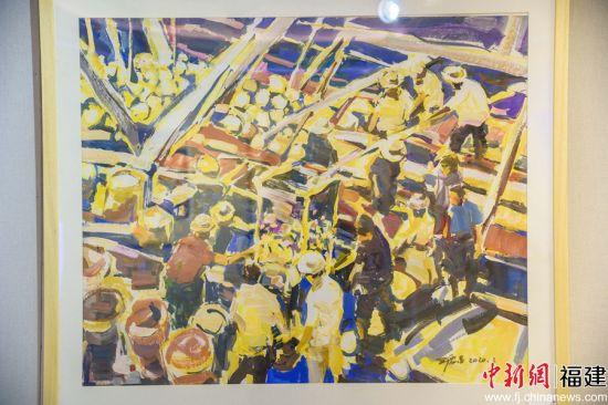 图为王绍昌作品《鱼满船》。