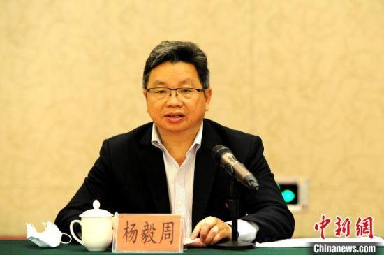 12月11日,全国台联副会长杨毅周在台胞青年创业发展研讨会开幕式上讲话。 张金川 摄