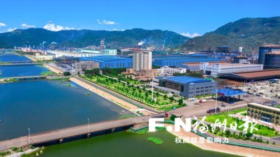 技改绿色升级中的罗源湾千亿钢铁产业基地。游永健 摄