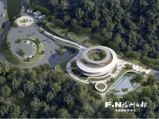 红庙岭循环经济生态产业园综合管理服务中心鸟瞰效果图。