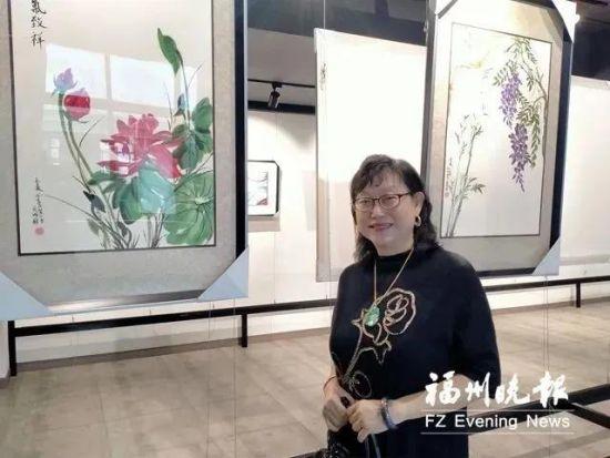 蒋香薇在长乐屿头印秋艺术中心。