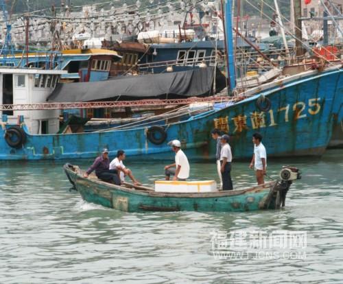 千余艘渔船东山进港避台风