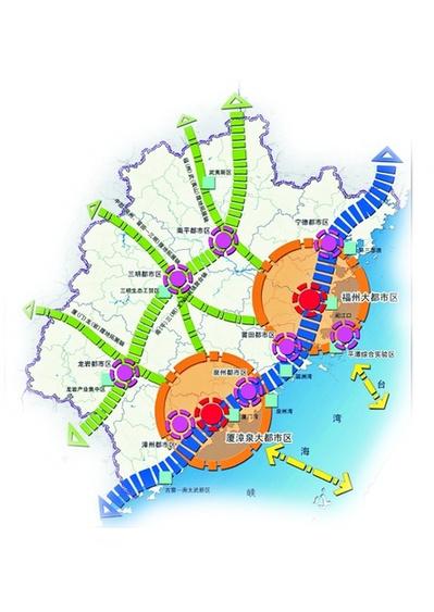 福建省城镇体系规划空间结构