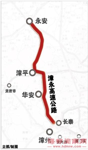 东山高速联络线也在施工中