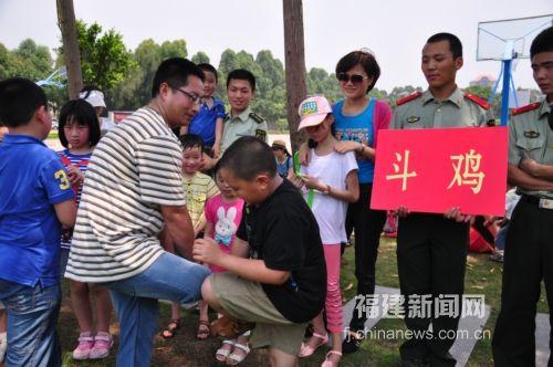 福建新闻网·福州边防官兵开展六一主题活动