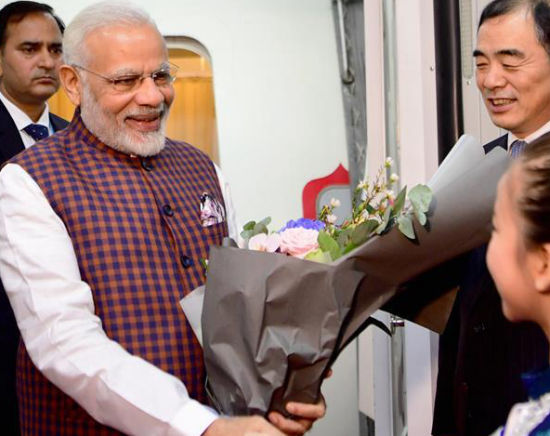 印度总理莫迪抵达厦门