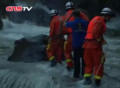 山洪暴发致福州永泰转移44名被困游客