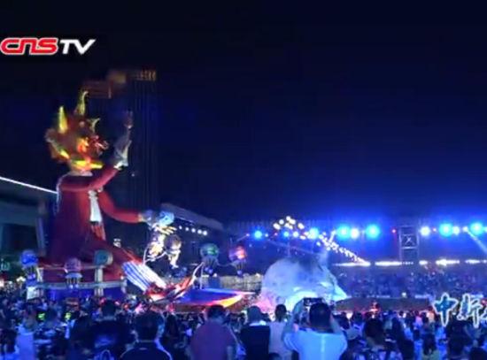 """尼斯嘉年华首次走进中国 厦门市民享受""""流动盛宴"""""""