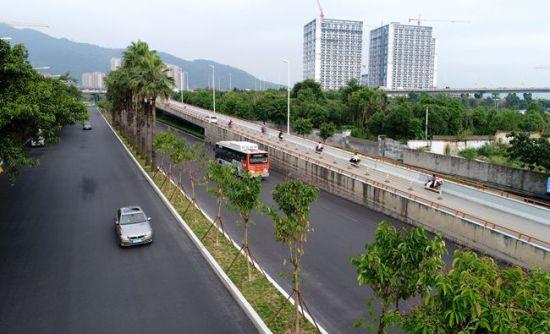 福州鳌峰路拓宽改造主体完工