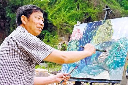 """融合中西方的绘画技巧 他的水彩画很有""""厦门性格"""""""