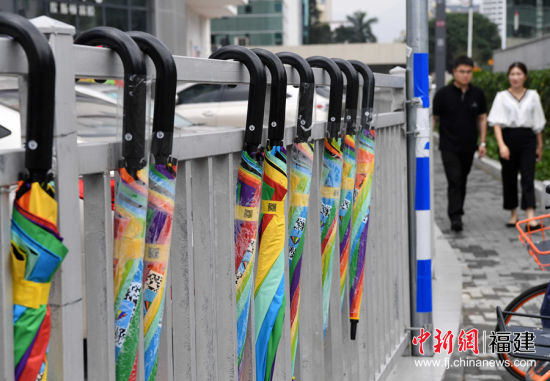 共享雨伞现身福州街头