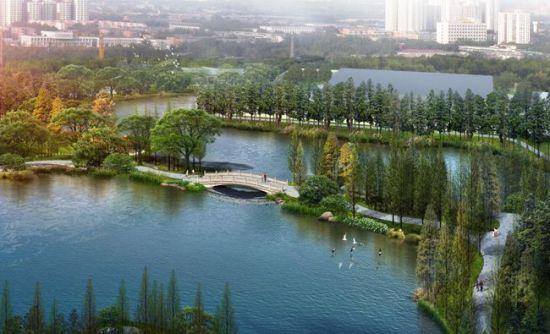 温泉公园扩湖工程月底基本完工 缓解五四片区内涝