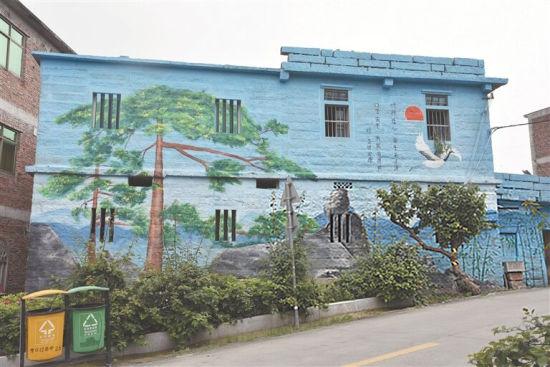 南安官桥竹口村:特色手绘文化墙 乡村靓丽风景线