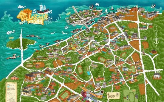 80后青年用手绘地图找回老福州记忆