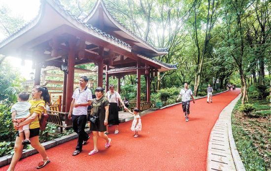 """""""三山""""公园  龙岩市民的休闲乐园"""