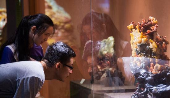 百余件寿山珍稀石种澳门真人博彩娱乐官网展出 吸引众多市民前来观赏